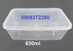 Hộp nhựa hình chữ nhật 650ml