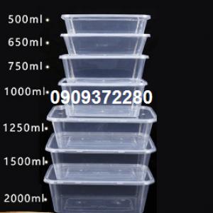 Hộp nhựa hình chữ nhật 750ml