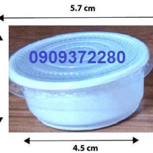 Chén nhựa đựng tương