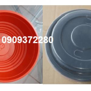 Tô nhựa đen đỏ