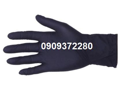Găng tay cao su đen